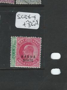 INDIA NABHA  KE 1/2A, 1A  SG 38-9  MOG