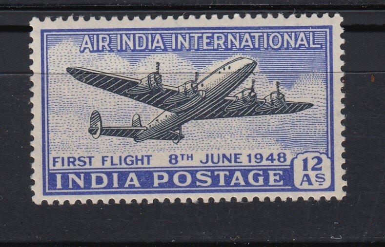 J28322 1948 india set of 1 mh #c7 airplane