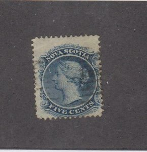 NOVA SCOTIA (MK4991) # 10 FVF-USED  5cts  QUEEN VICTORIA /BLUE CAT VALUE $12