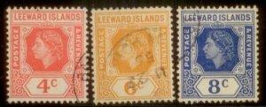 Leeward Islands 1954 SC# 137,139,140 Used L156
