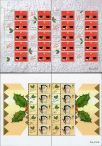SG LS2 and LS3 2000 Christmas POST OFFICE 2000 IMPRINT Smilers Sheet Perfect U/M