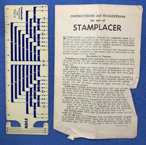 Stamp Placer Template - Vintage - Harold Cohn & Co., Chicago
