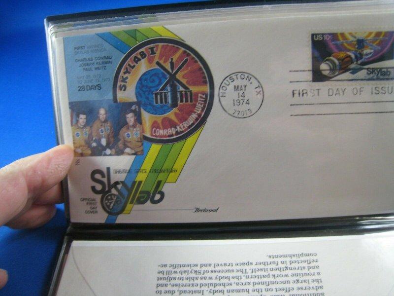 1974 SKYLAB FLIGHTS SOUVENIR FOLDER AND FDCs