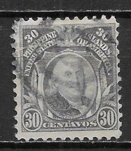 Phillipines 289C 30c Franklin single Used