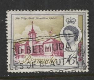 Bermuda - Scott 184 - QEII - Definitive -1962 - VFU - Single 1/3d Stamp
