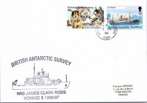 BRITISH ANTARACTIC TERRIORITY ARCTIC ANTARCTIC POLAR CANCEL / CACHET #102