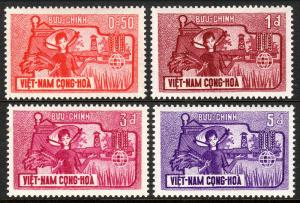 Viet Nam South 207-210, MNH. FAO Freedom from Hunger campaign.Farm Woman, 1963