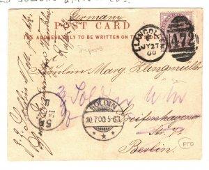 GB Wales Card *LLANGOLLEN/472* Duplex Anne Hathaway Cottage PPC Berlin 1900 ZB76