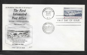 US #1164 Automated Post Office Fleetwood cachet unaddressed fdc