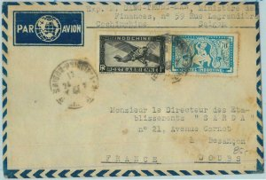 91219 - INDOCHINE Vietnam - Postal History - AIRMAIL  Cover to FRANCE  1947