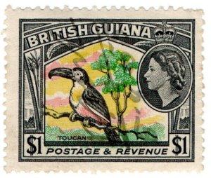 (I.B) British Guiana Revenue : Duty Stamp $1 (Toucan)