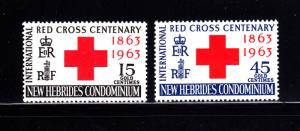New Hebrides, British 94-95 Set  MH Red Cross