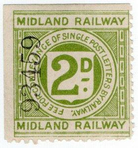 (I.B) Midland Railway : Letter Stamp 2d