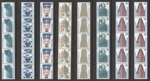 Germany Sc#1515A-1840 (Assorted) MNH Strip w/control # Historic Sites/Objects