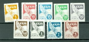 COLOMBIA 1950 LANSA SET #C166-174...MNH...$73.00