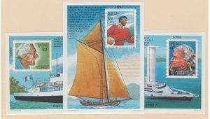 Palau Scott #437-438-439 Stamps - Mint NH Souvenir Sheet