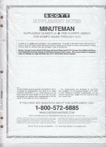 Scott Minuteman Supplement # 42 IssuesThrough 2010