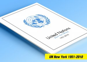 COLOR PRINTED UN - NEW YORK 1951-2010 STAMP ALBUM PAGES (155 illustrated pages)