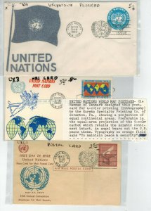 NICE U.N. UNITED NATIONS STATIONERY COLLECTION 75 FDCs Few Better $90 retail