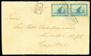 EDW1949SELL : ARGENTINA Nice pair of Scott #90 on Internal cover.