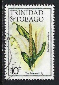 TRINIDAD & TOBAGO 393 VFU FLOWER 153C-2