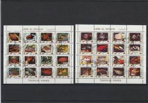 Umm Al Qiwain Exotic Colourful Fish Stamps Sheets Ref 24873