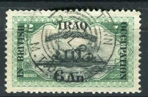 IRAQ; 1918 BRITISH OCCUPATION issue fine used 6a. value + good POSTMARK