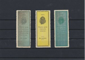 Salvador 1904 large mint never hinged Revenue stamps Ref: R4194