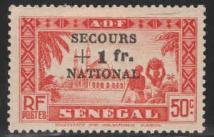 Senegal Scott B9 MH* semi postal overprinted stamp
