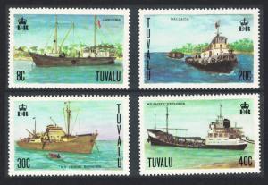 Tuvalu Ships 4v 1978 MNH SG#85-88