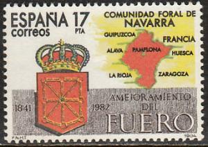 SPAIN 2388, NAVARRA AUTONOMOUS STATUTE. MINT, NH. F-VF. (176)