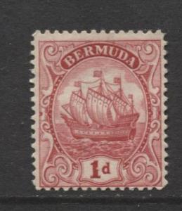 Bermuda - Scott 83 - Caravel - 1928 - Mint -  Single 1d Stamp
