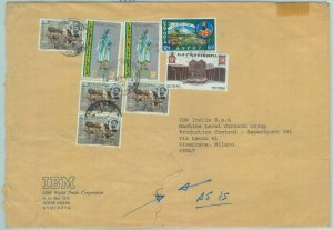 84513 -  ETHIOPIA - Postal History - COVER to ITALY  1975 - Animals ARCHITECTURE
