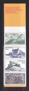 Sweden 1252a Booklet Set MNH Tourism