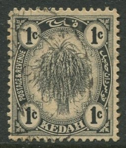 STAMP STATION PERTH Kedah #24a Sheaf of Rice Used Wmk 4-Type II -1921-1940