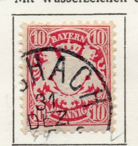 Bayern Bavaria 1881 Early Issue Fine Used 10pf. NW-120720