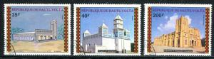 BURKINA FASO 1973 CHURCHES AND MOSQUES - ARCHITECTURE SET COMPLETE!
