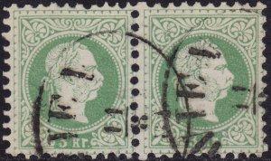 Austria - 1876 - Scott #35 - used pair - Franz Josef