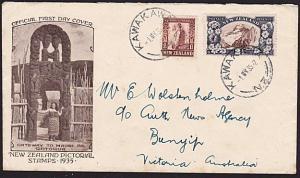 NEW ZEALAND 1935 1½d & 2½d on commem FDC....................................8554