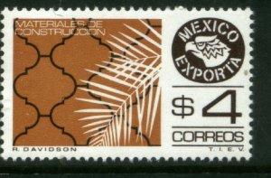 MEXICO Exporta 1119, $4P Construction Mats Fluor Paper 6. MINT, NH. VF.