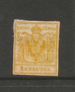 AUSTRIA  1850  1k  ORANGE  MHH    SG 1c  Sc 1