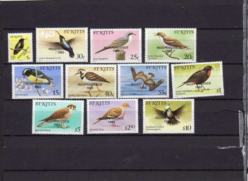 St kitts 1983 Birds Opt'd Independence MLH