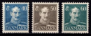 Denmark 1942-46 Christian X Definitives, Part Set [Mint]
