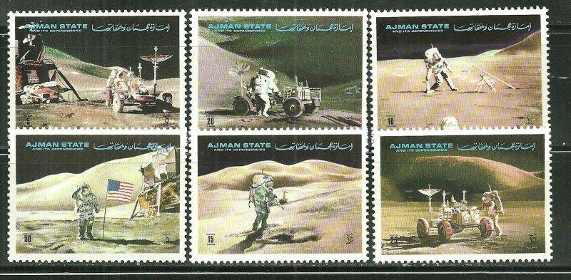 Ajman MNH Set Of 6 Moon Landing