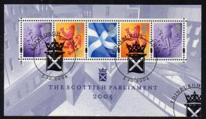GB Scotland Sc 24a 2004 Parliament stamp sheet used