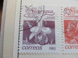 Nicaragua 1983 Flower 1cor fine used stamp A11P11F102