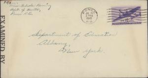 1942 PONCE PUERTO RICO TO UNITED STATES + CENSOR TAPE 4648 / 3840