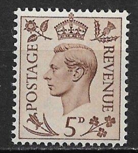 1937-39 Great Britain SC242 KGVI MNH