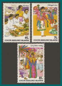 Cocos 1984 Malay Culture 1, MNH  108-110,SG108-SG0