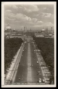 Germany 1942 Berlin Ost West Achse East West Axis  RPPC Card 90434